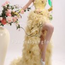 sweet daffodil tulle spaghetti straps ball gown mini length cocktail dress 353-1