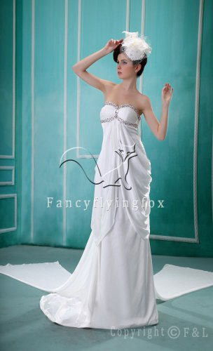 charming sweetheart empire meternity wedding dress F-065