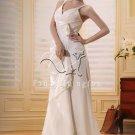 sexy spaghetti straps a-line floor length wedding dress F-080