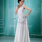 asymmetrical design a-line floor length chiffon destination wedding dress F-087