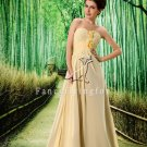 charming champagne chiffon sweetheart a-line floor length wedding dress L-022