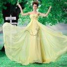 charming daffodil chiffon sweetheart empire maternity evening dress L-030