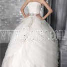 gorgeous white tulle strapless ball gown floor length wedding dress IMG-2811