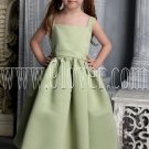 cute kelly satin straps a-line tea length flower girl dresses IMG-2464