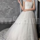 fairy tale princess straps a-line floor length wedding dress with appliques IMG-2555
