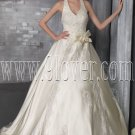 classic and modern halter neck v-neck ball gown floor length wedding dress IMG-2700