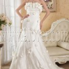 stunning floral strapless tulle a-line floor length wedding dress IMG-4866