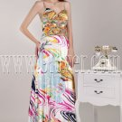 bohemian printed chiffon spaghetti straps a-line floor length evening gowns IMG-4634