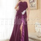 a-line floor length sweetheart purple chiffon floor length evening dress IMG-5196