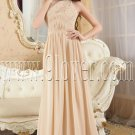 a-line light champagne chiffon halter floor length formal evening dress IMG-5235