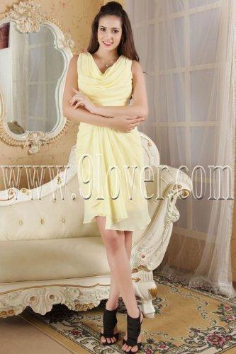 modern daffodil chiffon scoop neck a-line homecoming dress IMG-5296