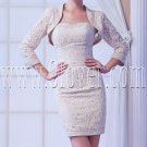 modern champagne lace mini length homecoming dress IMG-8144