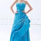 classic sky blue taffeta strapless a-line floor length prom dress IMG-9177