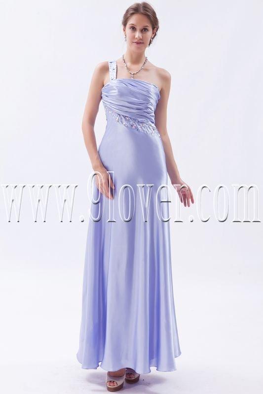 charming lavender satin one shoulder a-line floor length formal evening dress IMG-9339