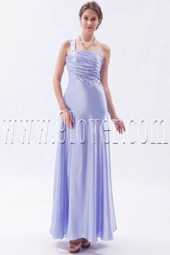 charming lavender satin one shoulder a-line floor length formal evening dress IMG-9339