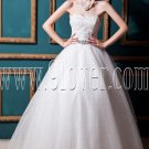 ball gown white tulle sweetheart floor length wedding dress IMG-0262