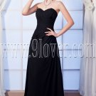 charming black chiffon sweetheart a-line floor length prom dress IMG-0061