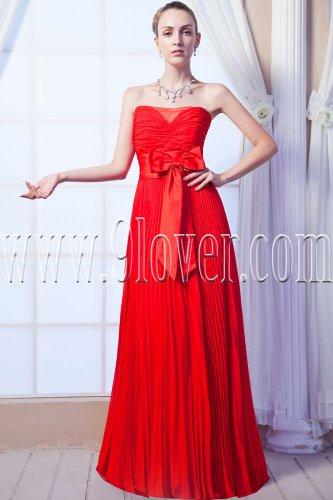 stunning red chiffon sweetheart a-line floor length formal evening dress IMG-0087