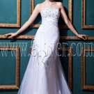 stunning white organza sweetheart a-line floor length wedding dress IMG-0406