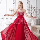 burgundy chiffon sweetheart empire floor length maternity prom dress IMG-1971
