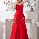 red a-line floor length strapless red mother of the bride dress IMG-1985