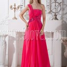 a-line floor length fuchsia chiffon one shoulder formal evening dress IMG-2079