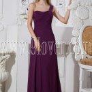 one shoulder grape chiffon column floor length bridesmaid dress IMG-2319
