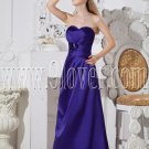 royal blue satin shallow sweetheart neckline a-line floor length evening dress IMG-2353