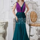 green and regency chiffon deep v-neckline a-line floor length formal evening dress IMG-2449