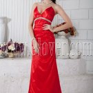 v-neckline red satin front short long back floor length prom dress IMG-6742