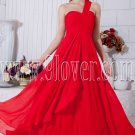 one shoulder red chiffon a-line floor length formal evening dress IMG-6871