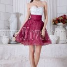 white and burgundy sweetheart a-line mini length homecoming dress IMG-6946