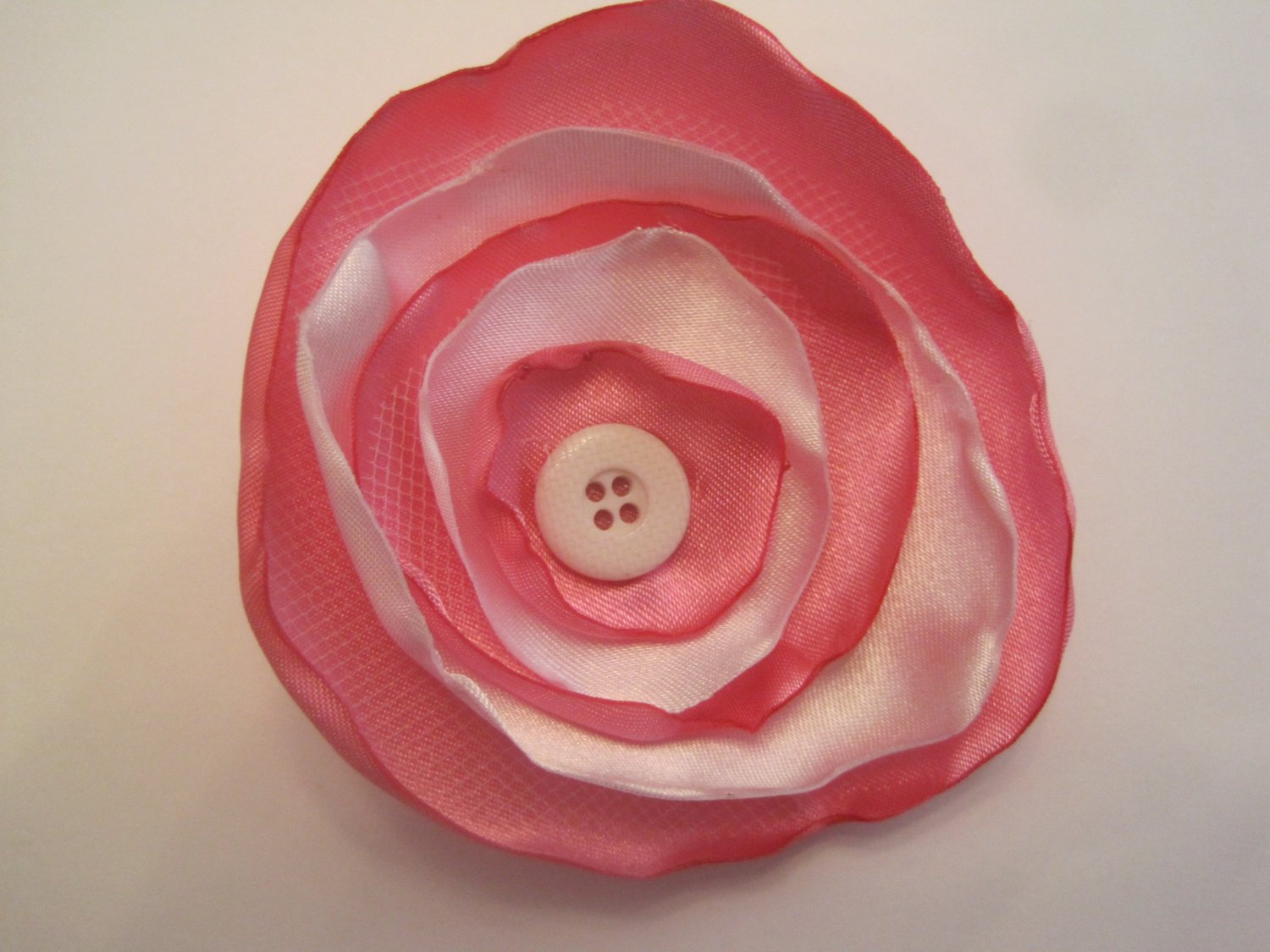 Pink and White Circle Flower