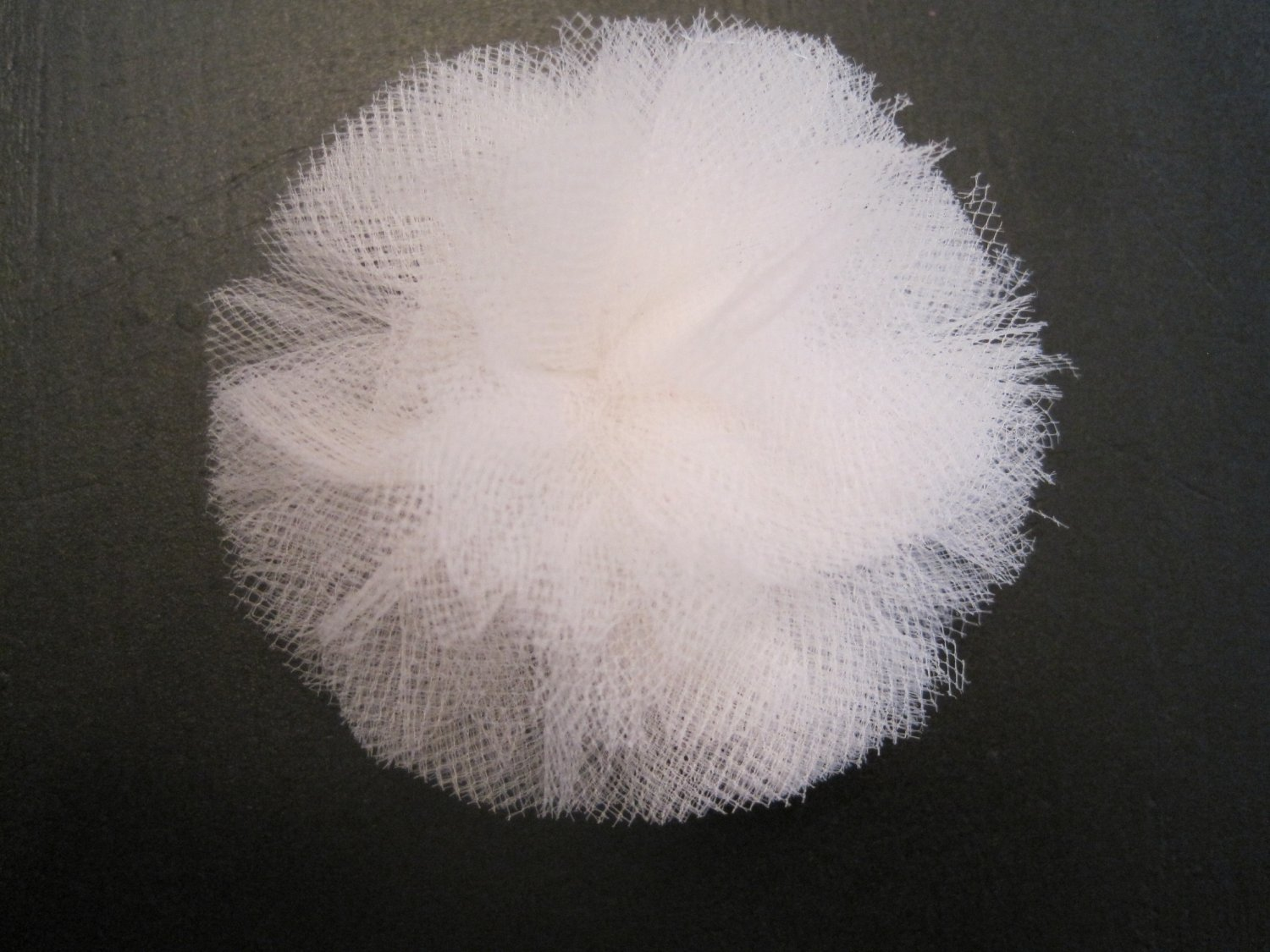 White Poof Bow