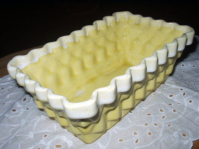 Yellow Basket Vintage Pottery-UPCO-Ungemach Pottery