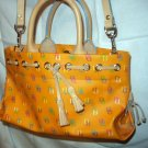 Orange Leather Tassel Tote Satchel Dooney & Bourke D&B Handbag ExcellentCondition New Without Tags