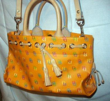 Orange Leather Tassel Tote Satchel Dooney & Bourke D&B Handbag ExcellentCondition New Without Tags