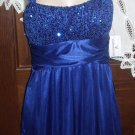 Stunning Womans Royal Blue Cocktail or Evening Dress Size 3 Love Tease Label NWT