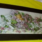 Bridal Favor 1896 Yard Long Purple Violets White Lily of Valley Flower Mary Hart Antique Chromolitho