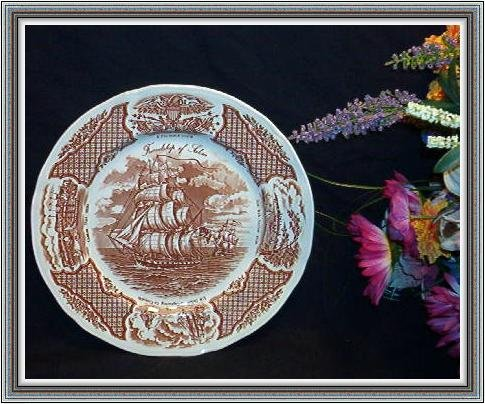 MINT ALFRED MEAKIN STAFFORDSHIRE VINTAGE FAIR WINDS PLATE