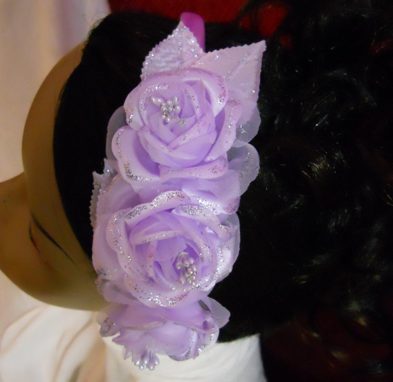 Flowergirl Lilac Headband