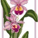 Deep Lavender Orchids Pattern Chart Graph