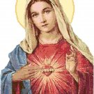 Sacred Heart of Mary Pattern Chart Graph