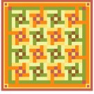 Flying Squares Quilt Pattern Chart Graph
