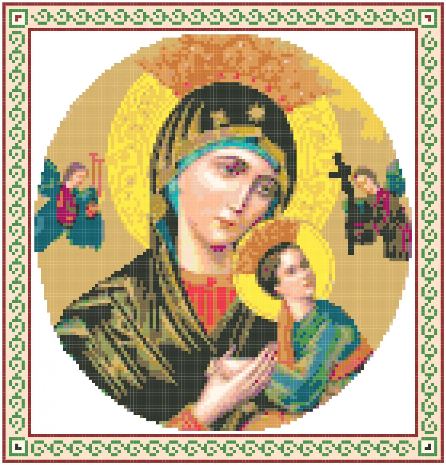 Our Lady of Perpetual Help 2 Pattern Chart Graph