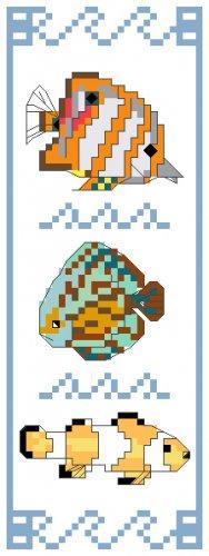 Tropical Fish Bookmark Pattern Chart Graph