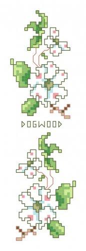 Dogwood Bookmark Pattern Chart Graph