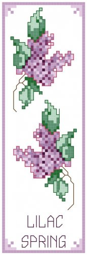 Lilac Spring Bookmark Pattern Chart Graph