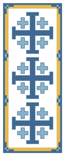 Jerusalem Cross Bookmark Pattern Chart Graph
