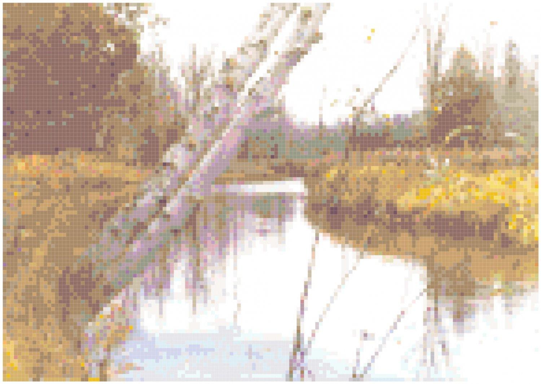Northwoods Birch Creek Landscape Pattern Chart Graph